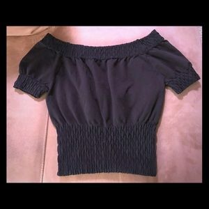 Arden B off the shoulder black top size M/L